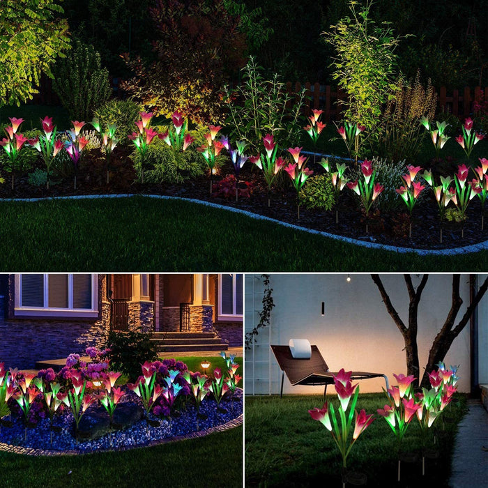 Wowslife™ Artificial Lily Solar Garden Stake Lights