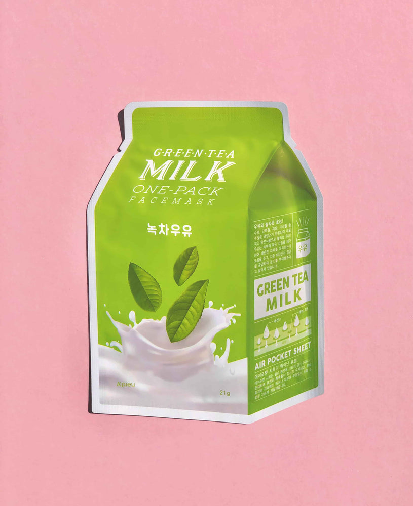 A'PIEU Green Tea Milk One-Pack Sheet Mask