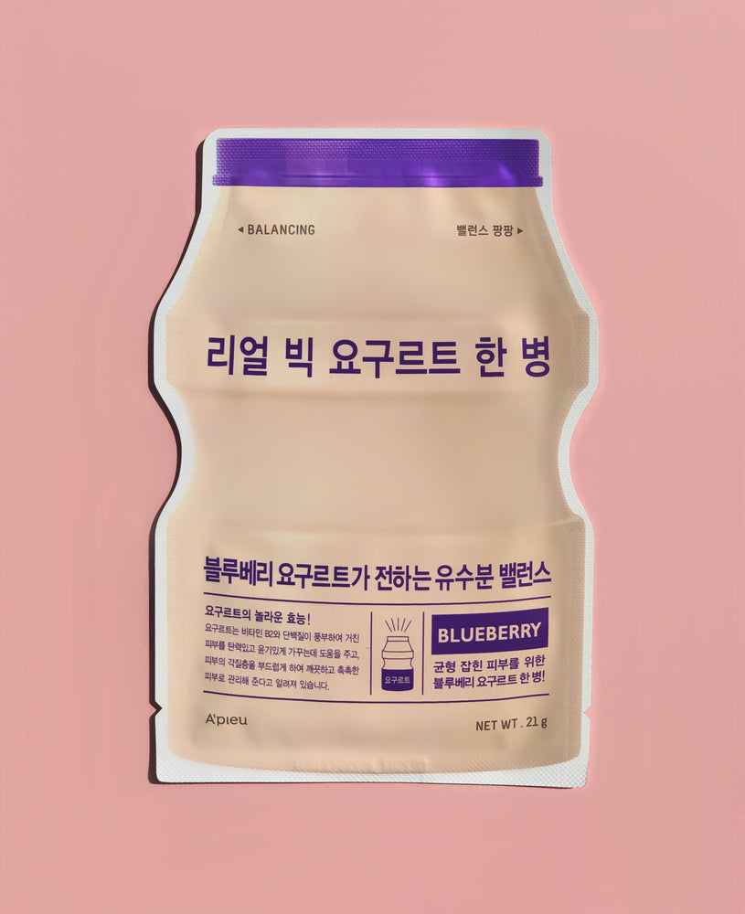 A'PIEU Real Big Yoghurt One-Bottle Blueberry Sheet Mask