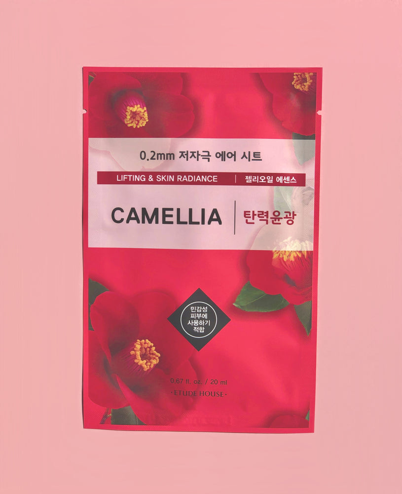 ETUDE HOUSE 0.2mm Therapy Air Mask Camellia Lifting & Radiance Sheet Mask