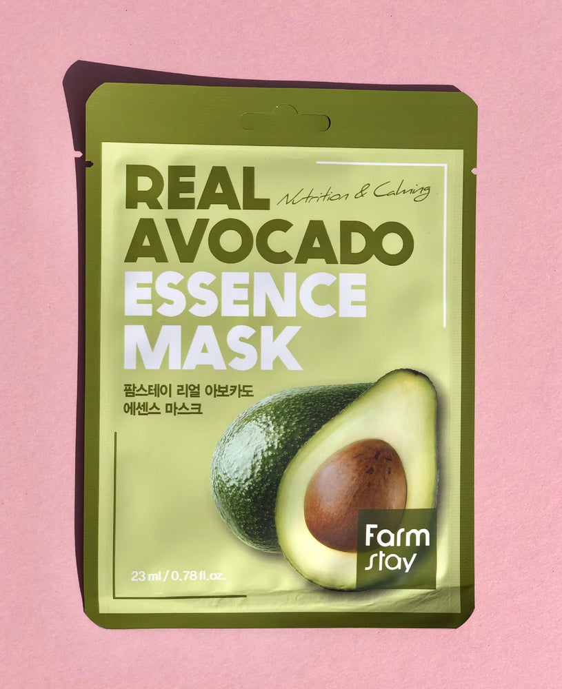 FARM STAY Real Avocado Essence Mask Nutrition & Calming Sheet Mask