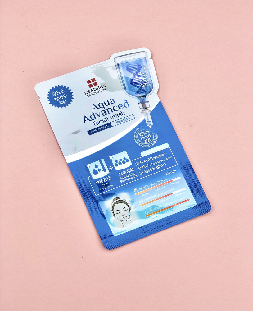 LEADERS Ex Solution Aqua Advance Facial Sheet Mask LENGBOX