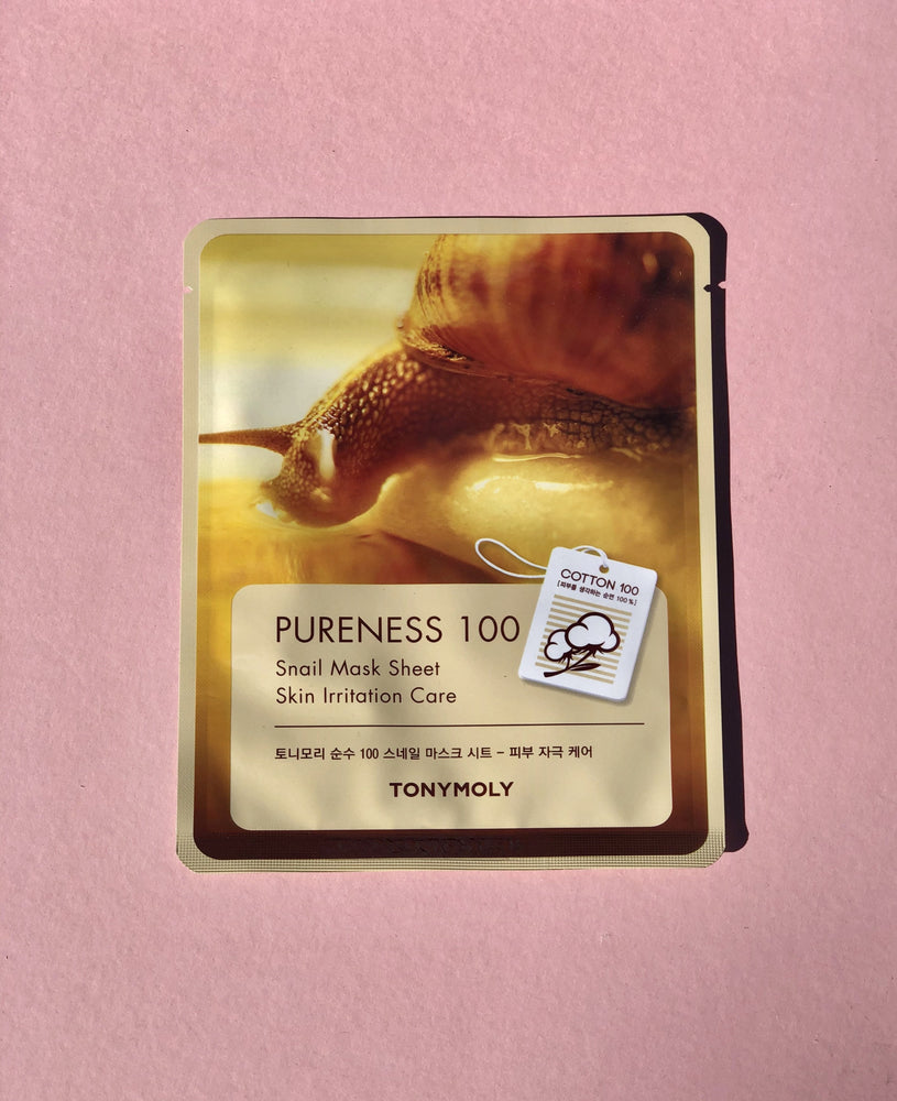 TONY MOLY Pureness 100 Snail Mask Sheet
