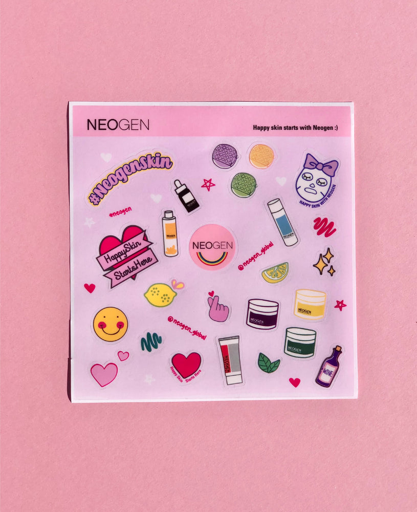 NEOGEN Happy Skin Starts with Neogen Sticker Set