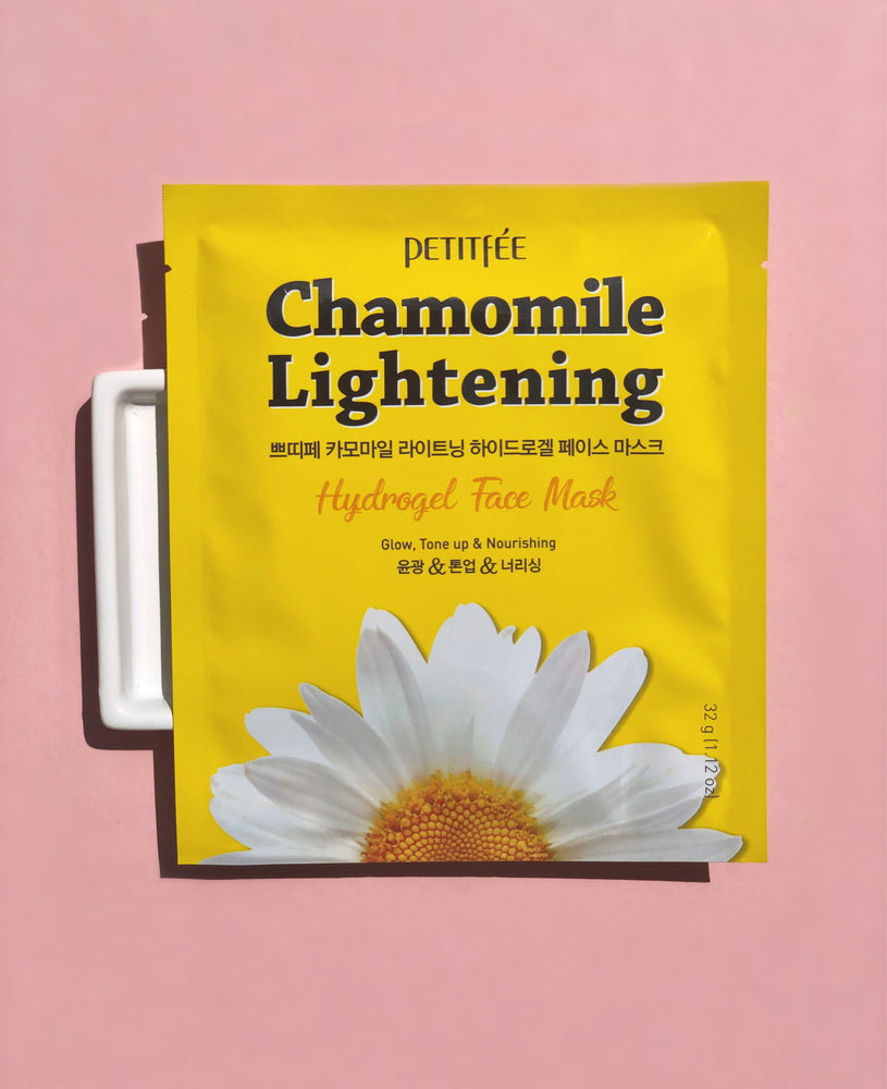 PETITFEE Chamomile Lightening Hydrogel Face Mask Sheet Mask