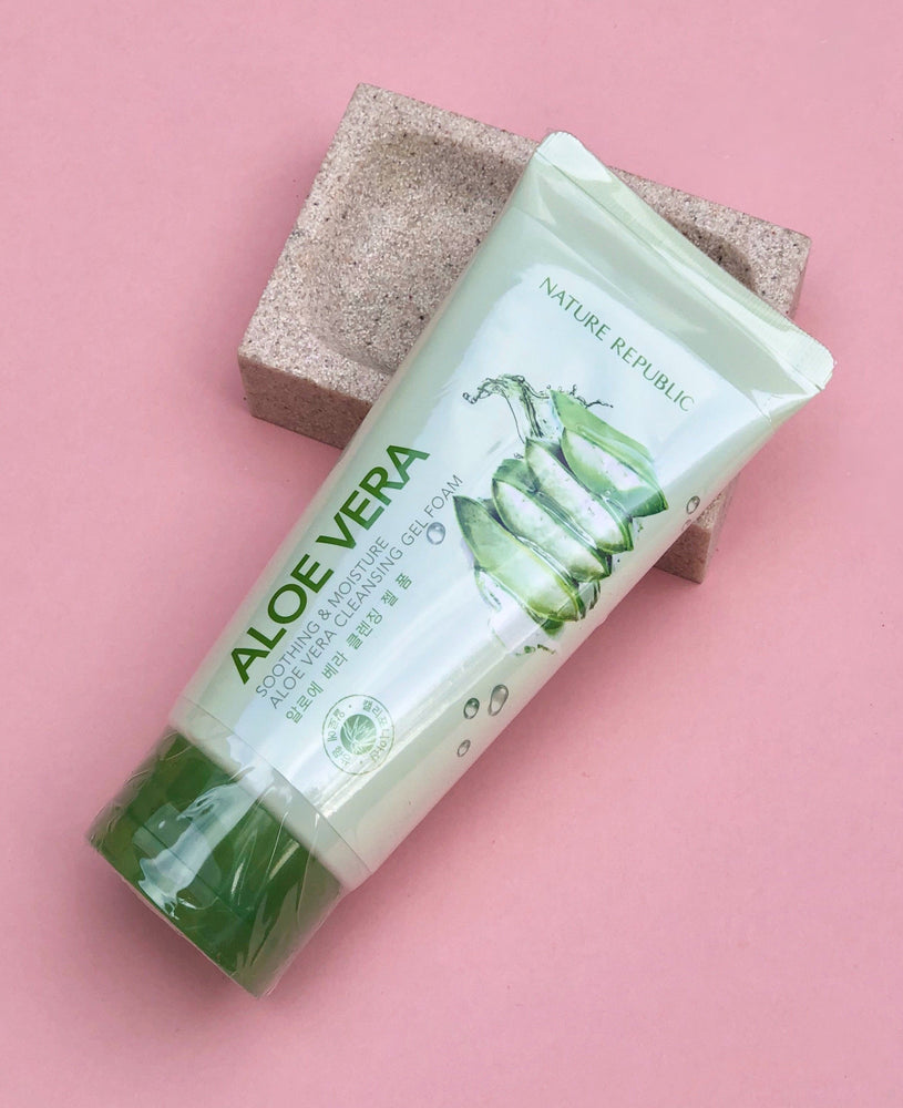 NATURE REPUBLIC Aloe Vera Soothing & Moisture Cleansing Gel Foam