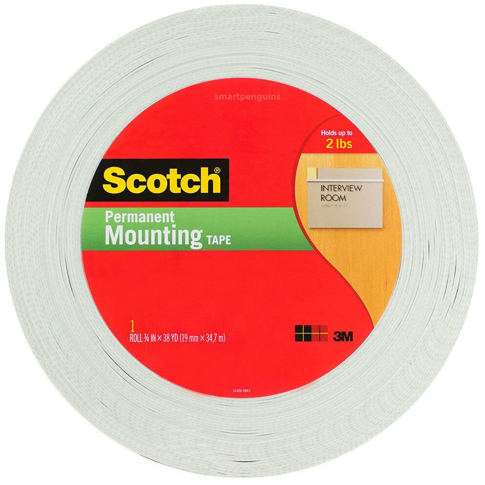 Scotch 110-MR Mounting Tape, 3/4