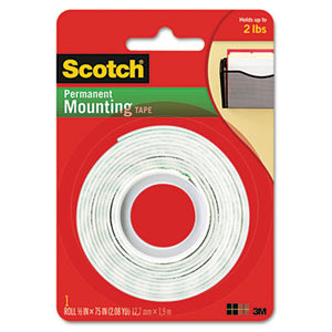 "Scotch 110 Mounting Tape, 1/2"" x 75"" (Pack of 24)"