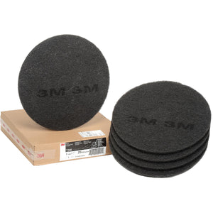 "3M Black Stripper Pad 7200, 20"" (Pack of 5)"