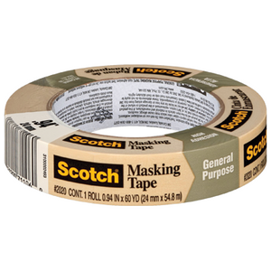 Scotch 2020 Masking Tape, 24 mm x 55 m (Pack of 36)