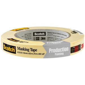 Scotch 2020 Masking Tape, 18 mm x 55 m (Pack of 48)