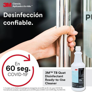 3M TB Quat Disinfectant Ready-To-Use Cleaner, Quart