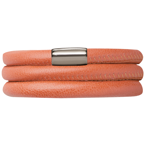 Koral Leather Triple Bracelet - Lock In Stainless steel