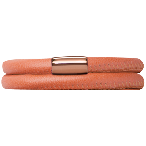 Koral Leather Double Bracelet - Lock In Rose Gold