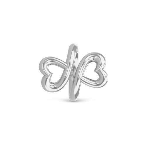 Twin Hearts Silver