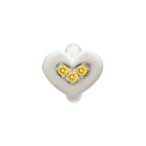 Citrine Triple Love Silver