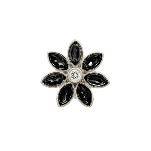 Big Black Flower Silver