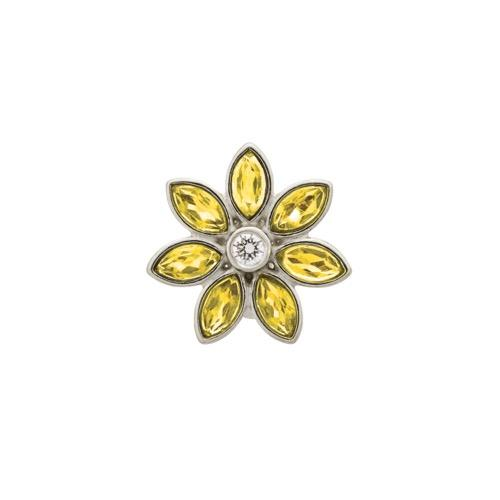 Big Citrine Flower Silver