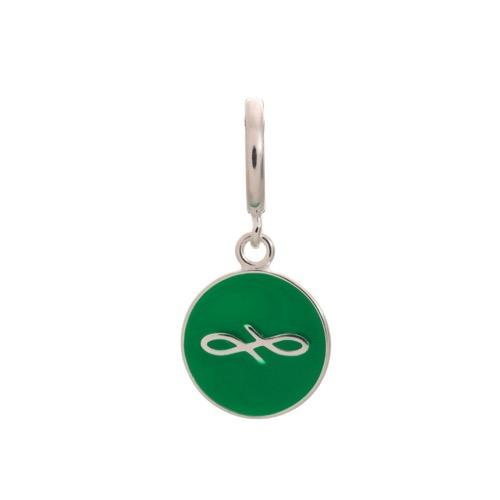 Green Endless Coin Silver