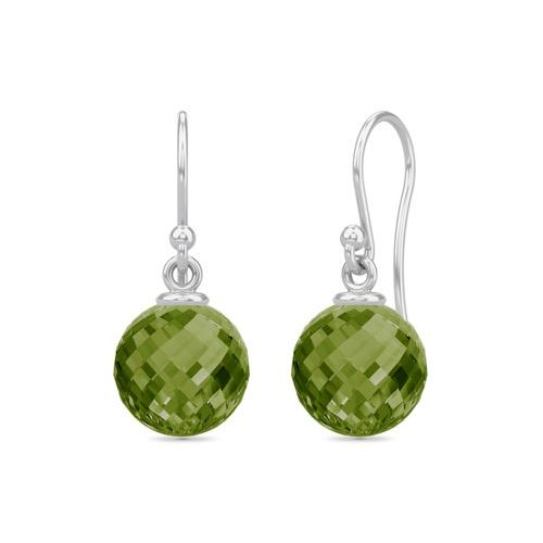 Dark Peridot Love Drop - Silver