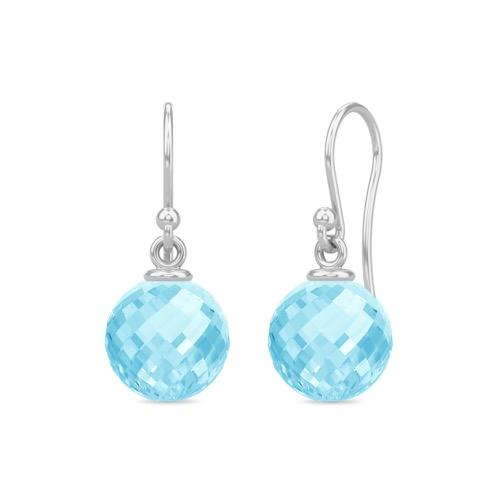 Sky Blue Love Drop - Silver