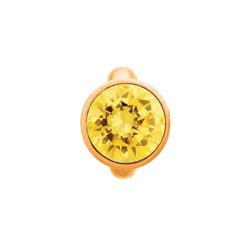 Round Citrine Dome Gold