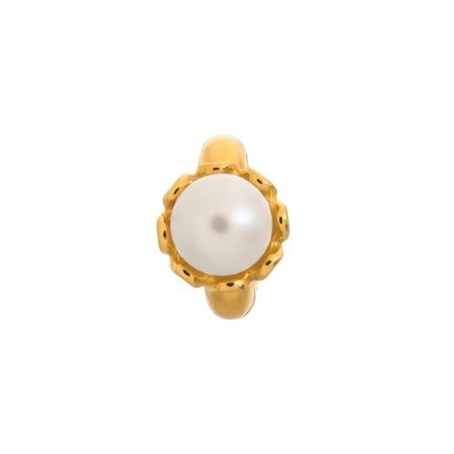 White Pearl Flower Gold