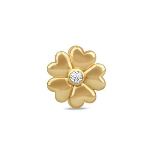 White Heart Flower Gold