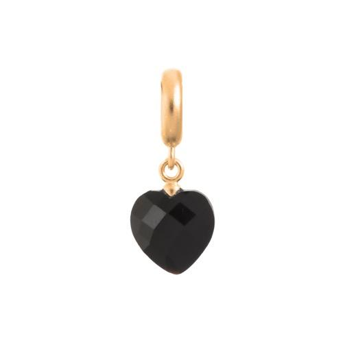 Black Heart Cut Drop Gold