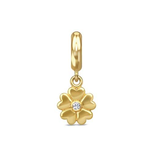Heart Flower Drop Gold