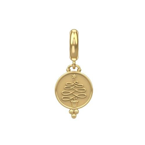 Christmas Tree Coin Gold