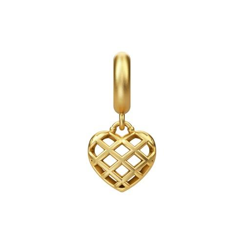 Holiday Heart Drop Gold