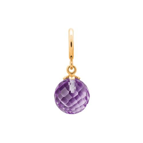 Amethyst Love Drop Gold
