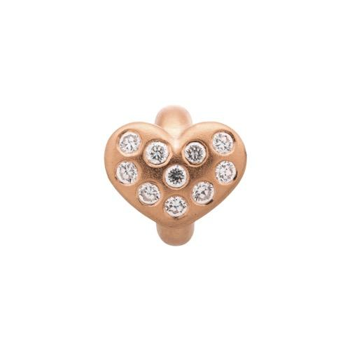 White Heart of Love Rose Gold