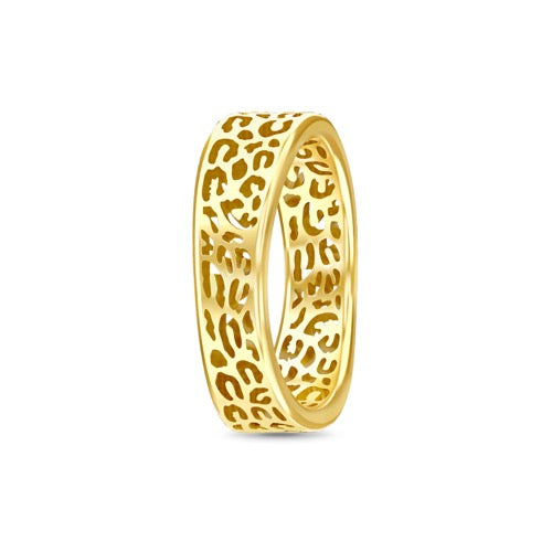 Leopard Cut Ring Gold