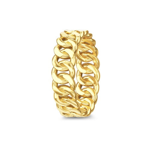 Solid Chain Ring Gold