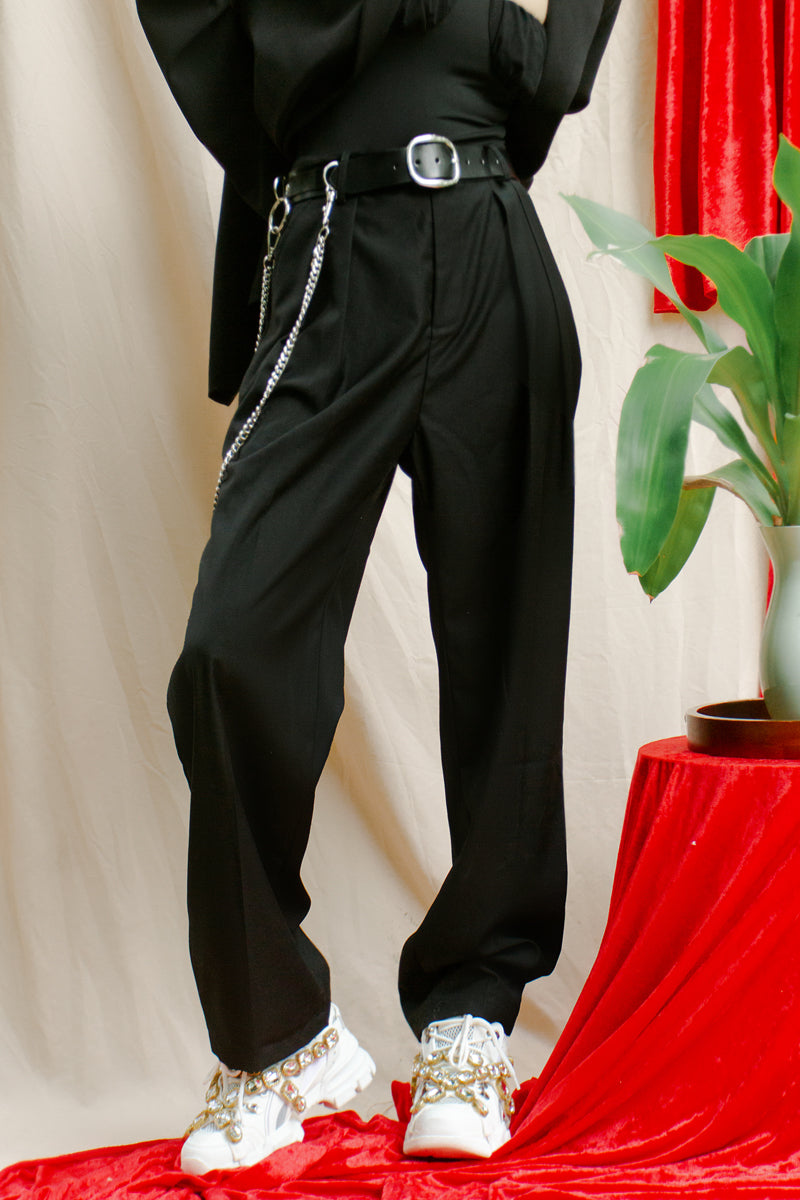 Wide Pleated Legged Trousers