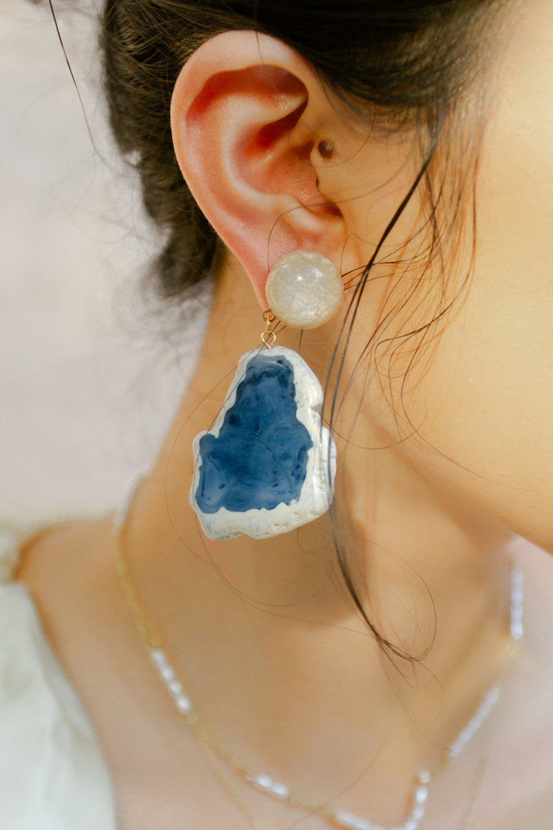 Watercolor Faux Stone Earring