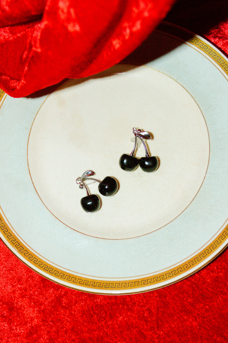 Black Cherry Drop Earring