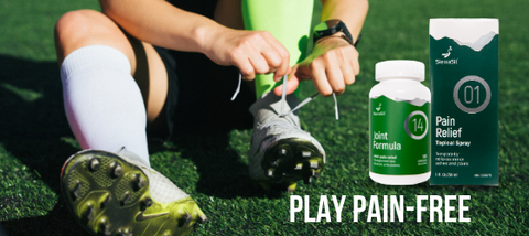 Play Pain Free with Sierrasil Joint Formula 14 and Pain Free Spray