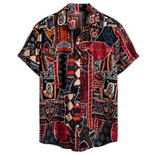 Load image into Gallery viewer, Men Short Sleeve Casual Cotton Linen Printing Hawaiian