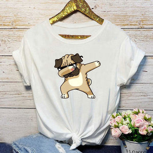 T Shirt Fashion Women Casual Short Sleeve Cartoon Printed
