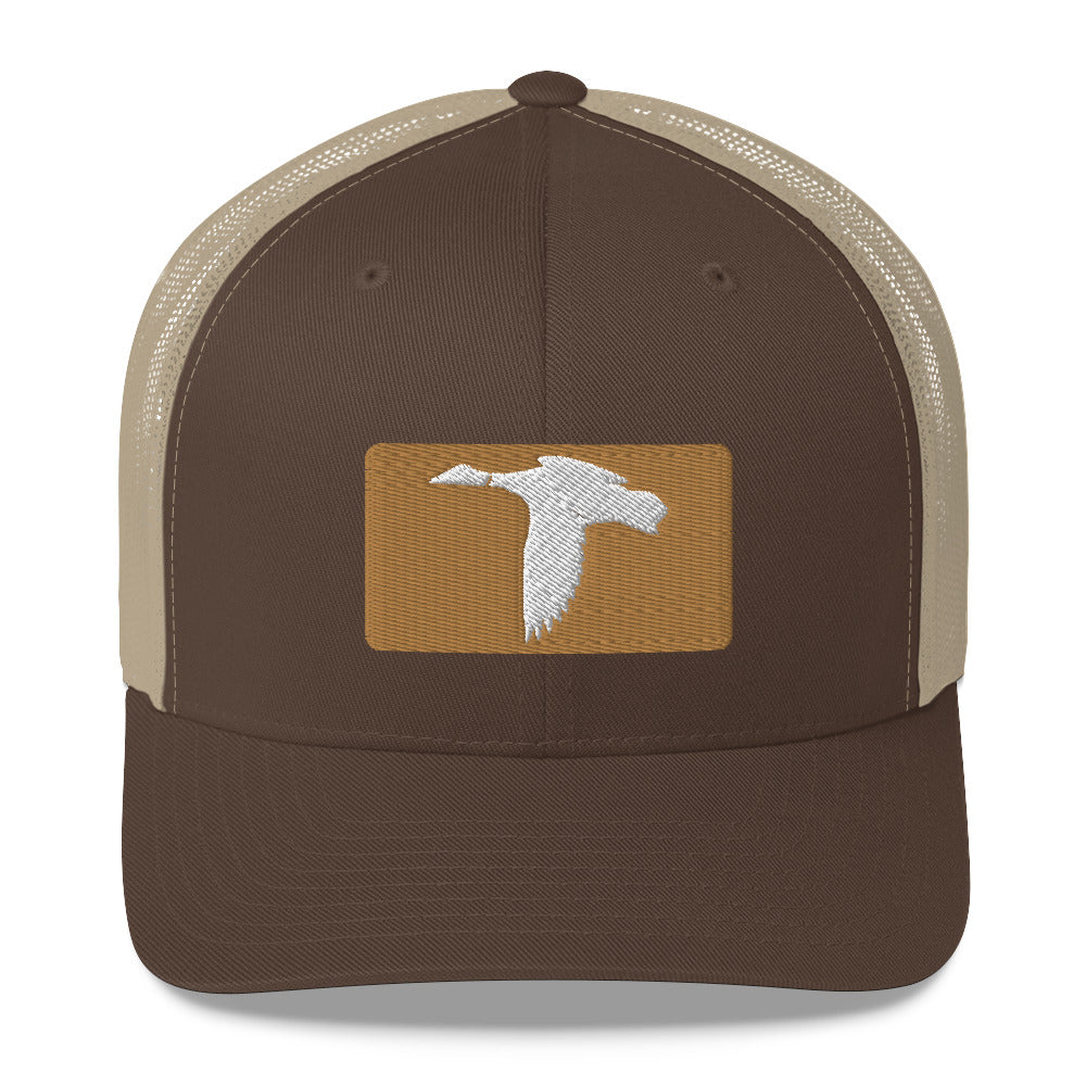 Old Gold/ Brown Trucker Hat
