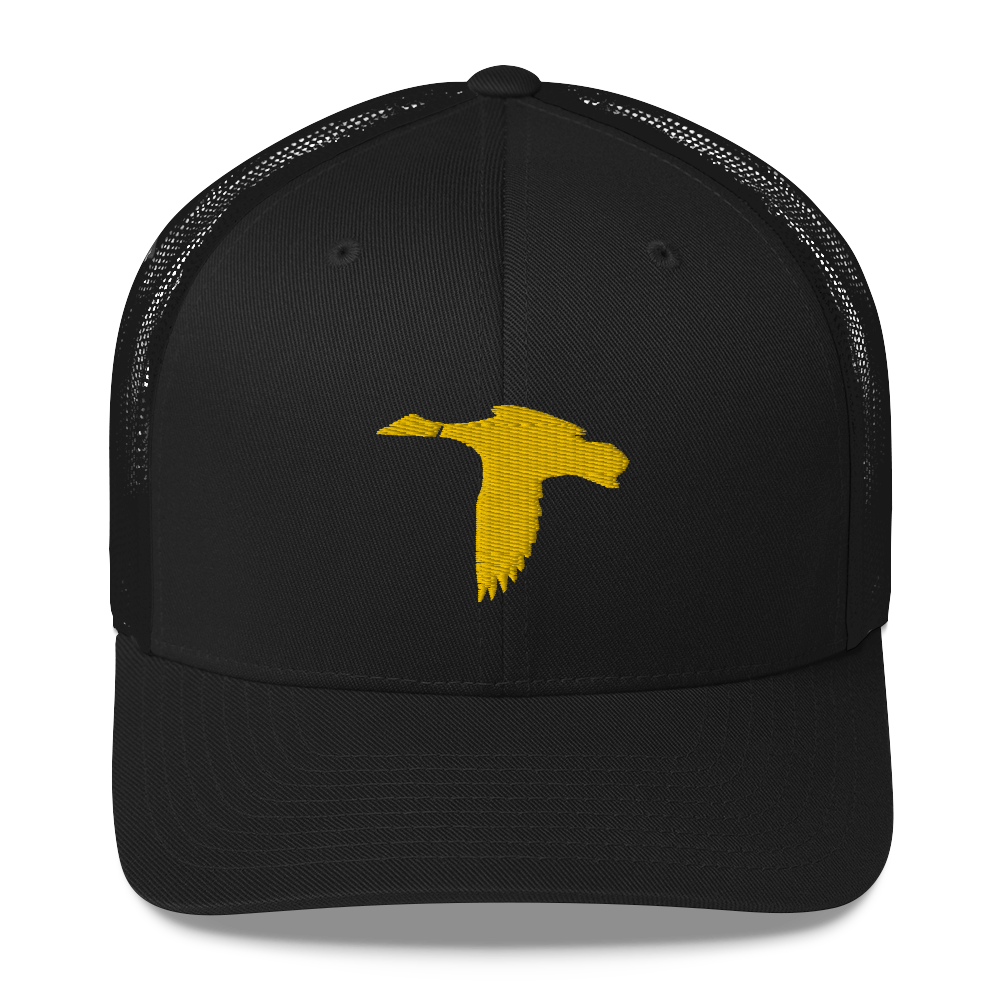 Black/Yellow Duck Logo Hat