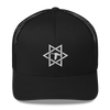 Black/White Star Logo Trucker Hat
