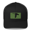 Black/Kiwi Green Trucker Hat
