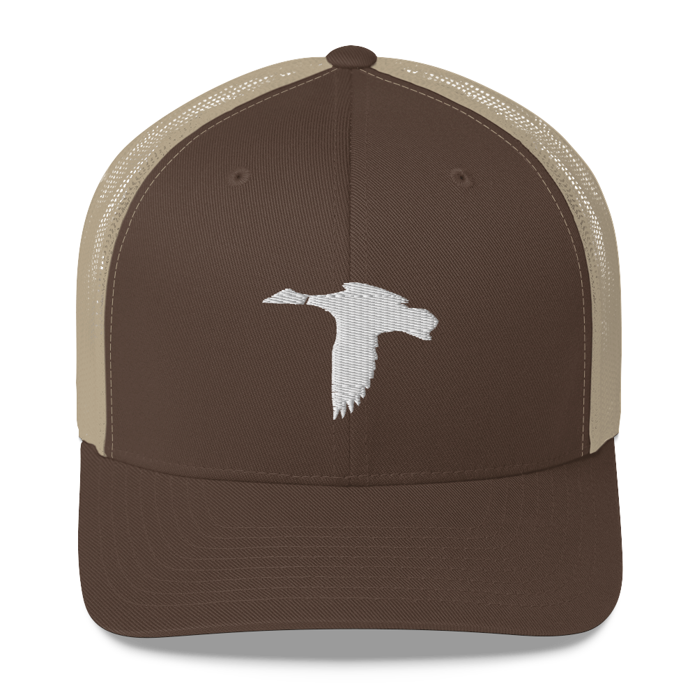Brown/White Duck Logo Hat