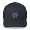 Navy/Old Gold Star Logo Trucker Hat