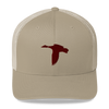 Tan/Maroon Duck Logo Hat