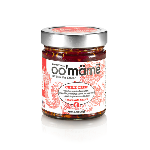jar of Chinese oomame chile crisp